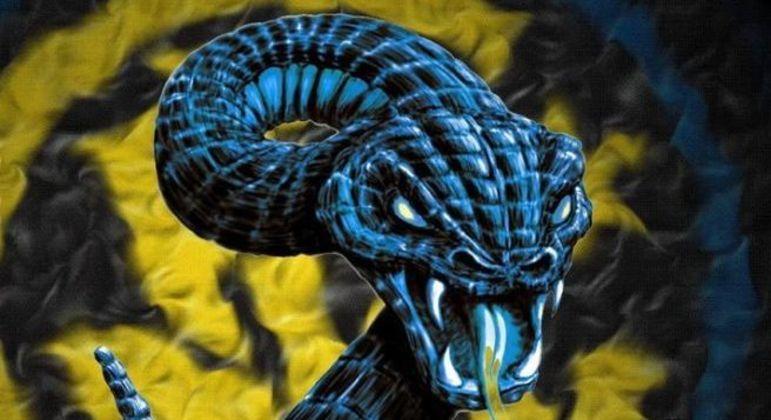 "A ""Biscione"", serpente mitológica da Lombardia"