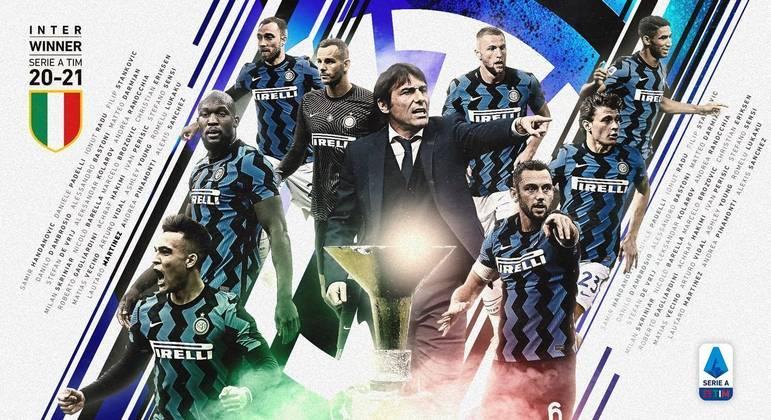 A elegante homenagem da Série A à Internazionale de Antonio Conte