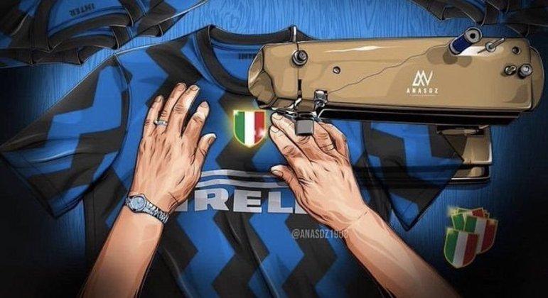 """Na capa do Twitter """"Forza Inter"""""""