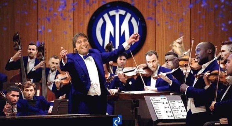 Antonio Conte e a orquestra campeã da Velha Bota em 2020/2021