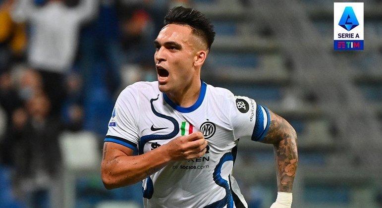A vibração de Lautaro Martínez pelos 2 X 1 da Inter, aos 78'