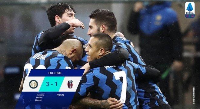 Inter, a vice-líder, Milão no topo da tabela