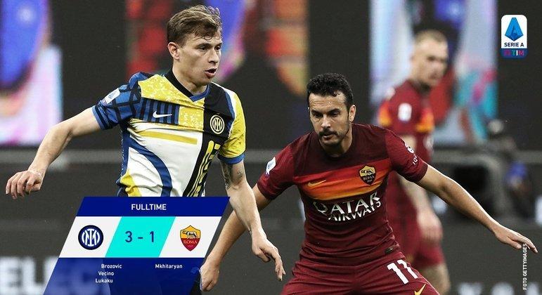 A Inter, de camisa nova, estraga as expectativas da Roma
