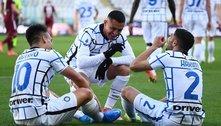 Calcio, rodada 27, a Inter ganha, o Milan perde, e o CR7 ressuscita