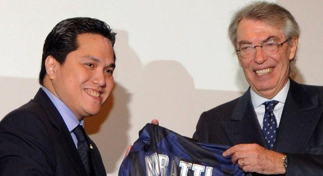 Tohir e Màssimo Moratti, da Inter