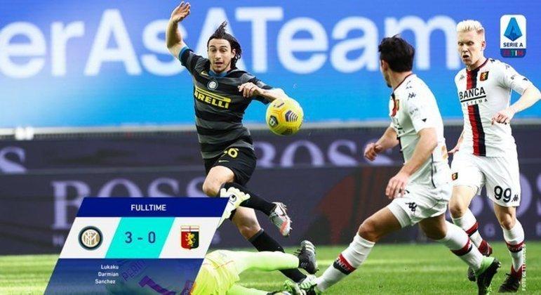 A Inter, triunfo sossegado sobre o Genoa