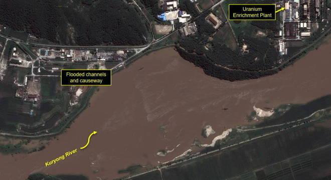 Imagem do Centro de Pesquisa Científica Nuclear de Yongbyon divulgada pela entidade 38 North