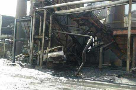 Explosão causou incêndio e deixou feridos