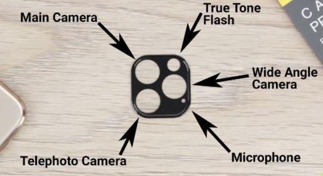 As três lentes do novo iPhone não devem ser alinhadas na vertical ou na horizontal