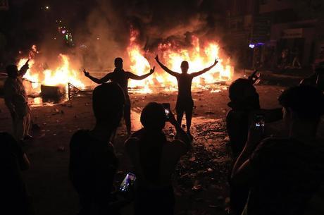 Manifestação em Karbala aconteceu de madrugada