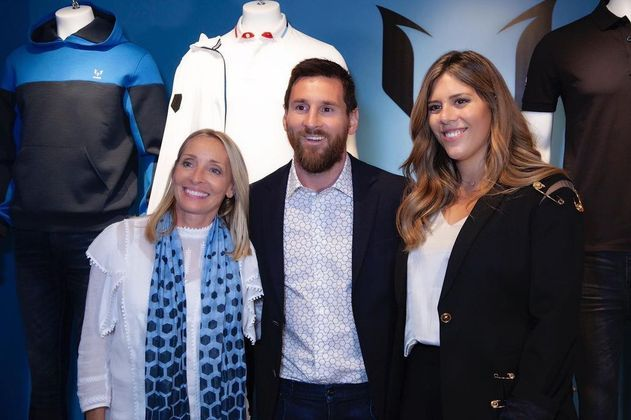 O craque conta com a ajuda de sua irmã Maria Sol Messi e também a irmã de Tommy Hilfiger, a Ginny Hilfiger, para serem as representantes de sua marca de roupas. Na foto, Maria, irmã de Messi está à esquerda e Ginny à direita