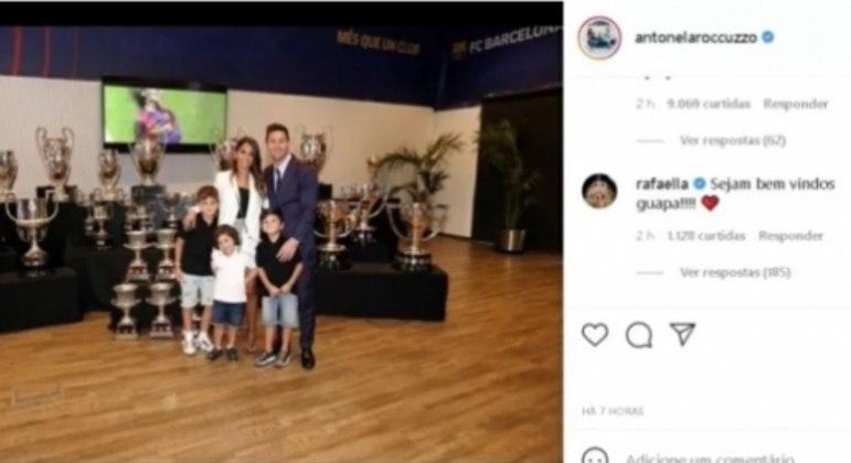 Irmão de Neymar e esposa de Messi