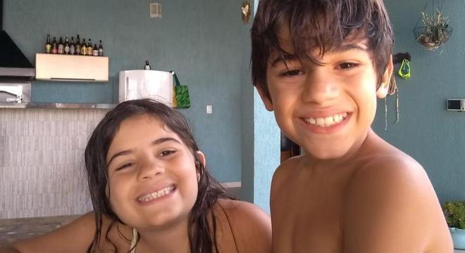 Isabela Tamiazi comemorou 9 anos no dia  19 e seu irmão, Guilherme, 10 anos no dia 27