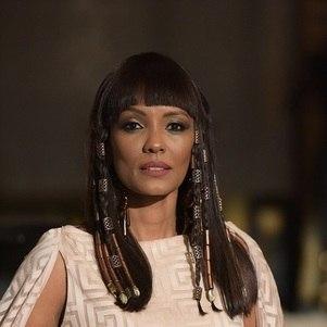 Atriz interpreta a rainha Amanishakheto em 'Gênesis'
