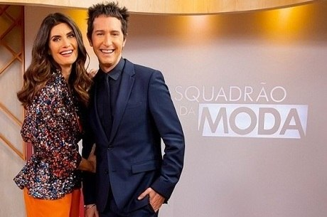 """Isabella Florentino e Arlindo Grund, apresentadores do """"Esquadrão da Moda"""""""
