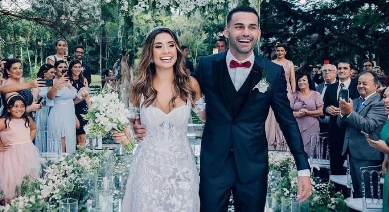 Isadora Pompeo e Thiago Maia foram casados por dois meses