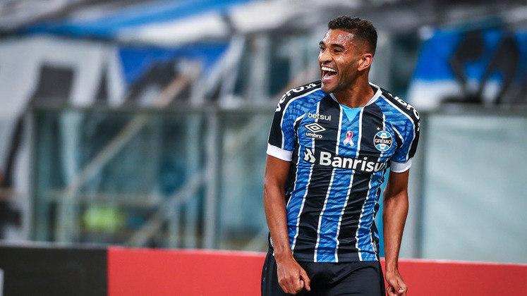 Isaque (23) - Grêmio - Valor atual: 2 milhões de euros - +3900% - Diferença: 1,95 milhões de euros