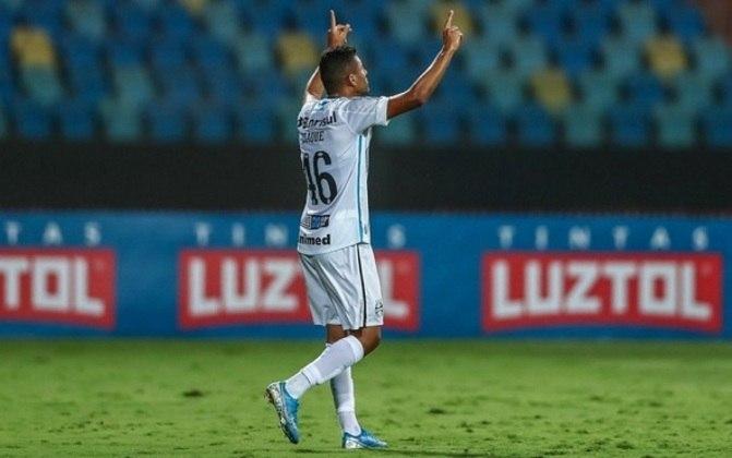ISAQUE - ISAQUE- Grêmio (C$ 5,20) - Aposta interessante pelo seu preço. Mesmo com o time reserva, o Grêmio pode marcar contra um Fortaleza que não costuma se retrair. Tem um gol no campeonato, mesmo sendo costumeiramente reserva!