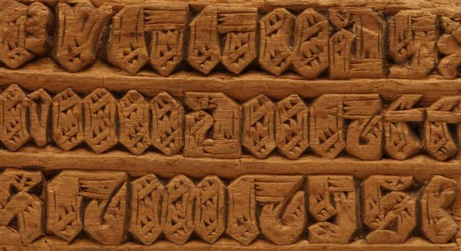 Os antigos tipos de madeira do alfabeto local