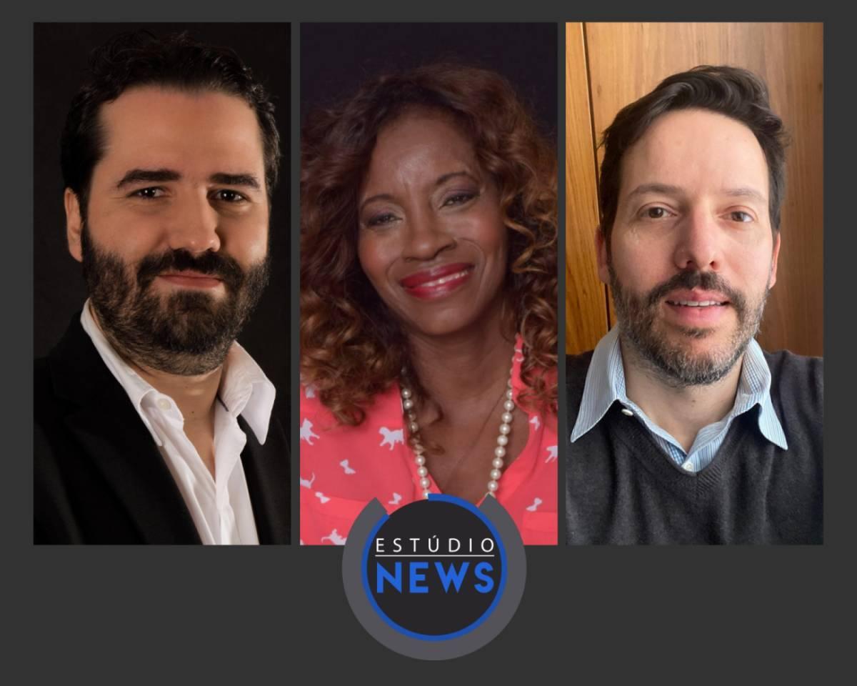 Na foto, Fábio Senne, Eliane Leite e Gustavo Fontes.