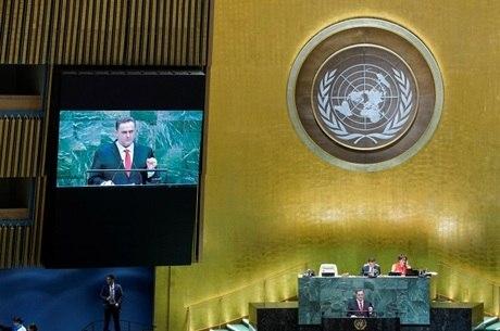 Ministro discursa durante Assembleia da ONU