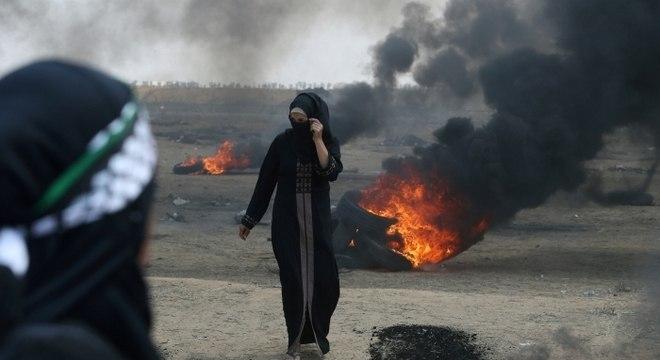 Protestos na faixa de Gaza deixaram dezenas de mortos