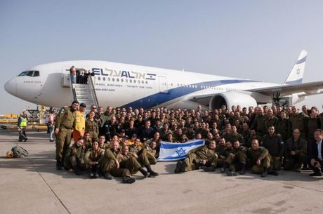 Delegação postou uma foto antes de decolar de Israel