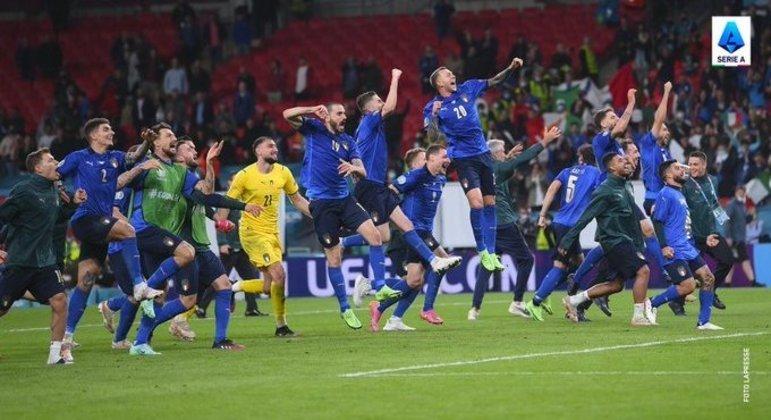 """Celebração, a """"Azzurra"""" na final da Euro2020"""