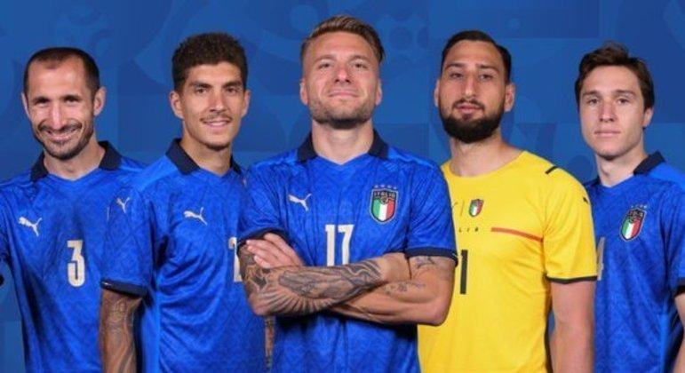 """Chiellini, Di Lorenzo, Immobile, Donnarumma e Chiesa, da """"Squadra Azzurra"""""""