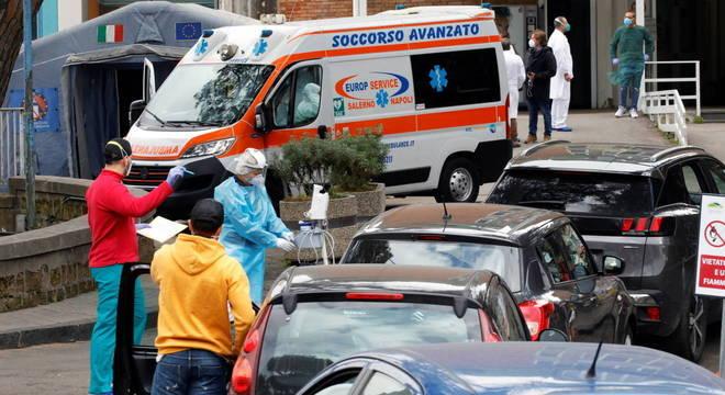 A Itália registrou 550 vítimas fatais do vírus SARS-CoV-2 nas últimas 24 horas