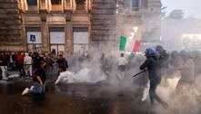 Itália: protesto contracertificado sanitário deixa presos e feridos