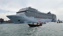 Itália vai banir cruzeiros do centro de Veneza a partir de agosto