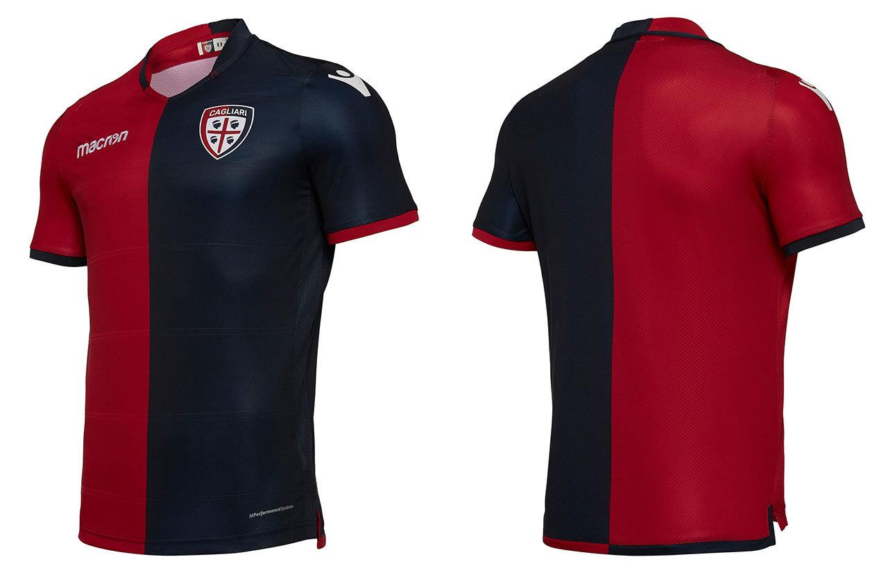 5b87bfd8cb ... de material; <b>Cagliari / Camisa titular - </b>O kit principal do ...