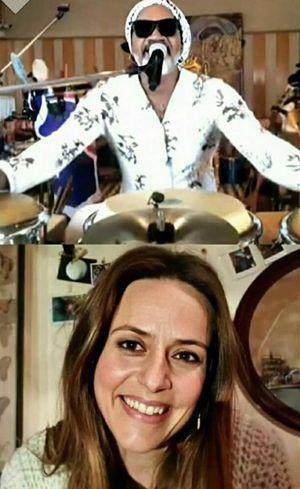 Carlinhos e Itziar em live na web