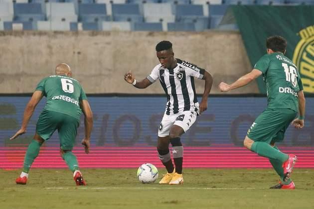 Iván Angulo (atacante - 21 anos - colombiano) - Pertence ao Palmeiras e está emprestado ao Botafogo somente até 21/2 - Reserva no Botafogo, mas visto como jogador de futuro promissor. Mostrou bom futebol na seleção colombiana na Copa do Mundo Sub-20 de 2019