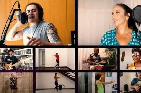 Imagens de clipe foram feitas nas casas dos artistas