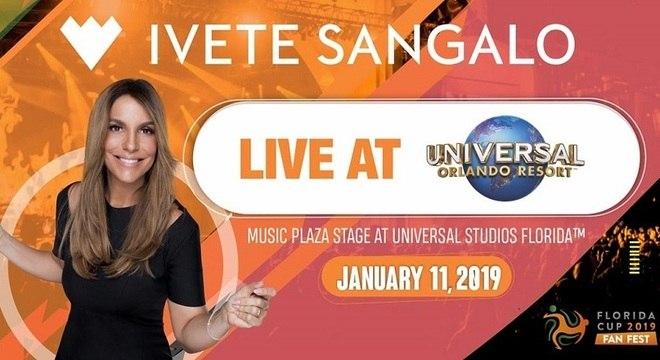 Ivete Sangalo é atração principal da Fan Fest da Florida Cup 2019
