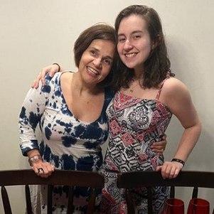 Claudia Rodrigues e a filha, Iza