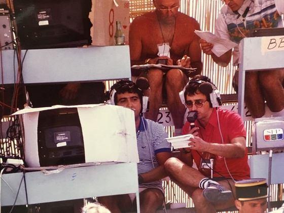 Já na foto, Galvão e Reginaldo acompanhados de Walker Murray no GP da França de 1982