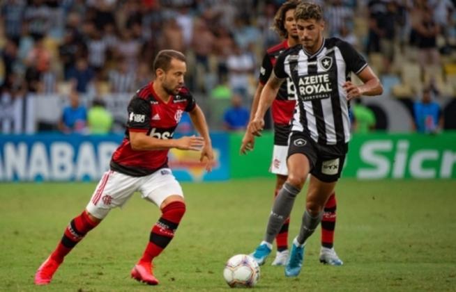Já no confronto entre Flamengo x Botafogo, quem está com a vantagem é o Rubro-Negro, que venceu 136 vezes o rival. O Fogão tem 111 vitórias. O clássico terminou empatado em 123 oportunidades.