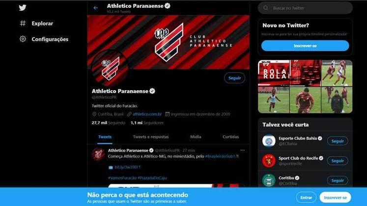 Já o Athletico Paranaense foi um dos times da Série A do Brasileirão 2021 que não fez uma manifestação sobre o Dia Internacional do Orgulho LGBTQIA+, até o momento da finalização desta galeria.
