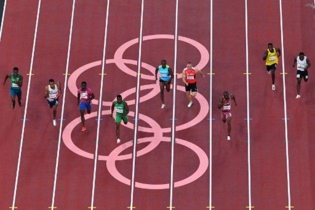 Já os brasileiros Rodrigo Nascimento e Felipe Bardi não conseguiram avançar para a semifinal dos 100m rasos.