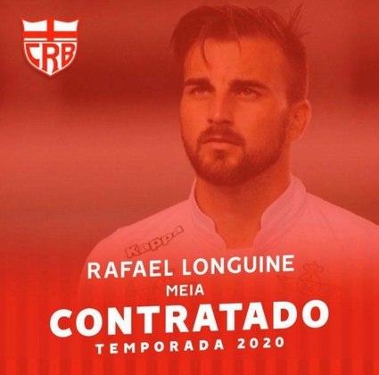 Já Rafael Longuine foi emprestado ao CRB até dezembro de 2020, mesmo período que termina seu acordo com o Santos.