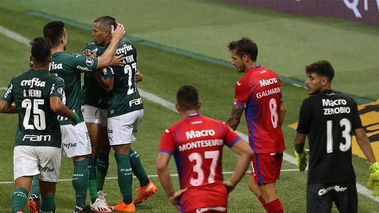 Já sem Luxemburgo, Andrey Lopes comandou o Palmeiras na goleada por 5 a 0 sobre o Tigre, na despedida da fase de grupos