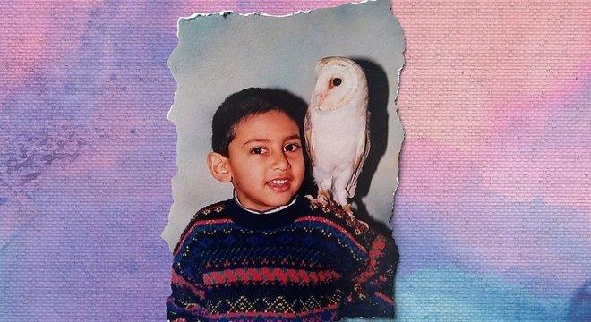 Jaabir na infância; depressão começou a se manifestar após a morte do pai, quando ele tinha 12 anos