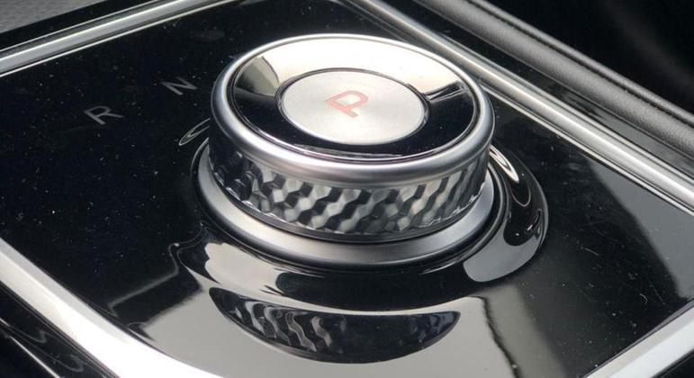 Manopla de câmbio é um botão
