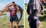Wyatt Teller é um astro da NFL de 26 anos que resolveu se exibir, carregando nas costas um jacaré que matou durante uma viagem. Mas o ato gerou reações furiosas em redes sociais