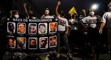 Protesto no Rio de Janeiro contra a operação polícia na favela do Jacarezinho