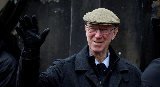 Jack Charlton, em foto feita durante o funeral de Gordon Banks