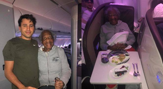 Após descobrir sonho de idosa, passageiro cedeu seu assento na 1ª classe